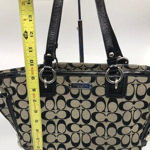 Coach Bags - Coach Black Gray Medium Fabric Shoppers Tote Bag